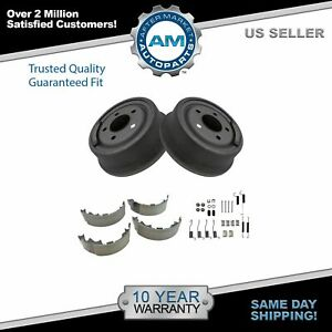 Rear Brake Shoes 2 Drums Hardware Spring Kit Set For Jeep Wrangler Truck Suv