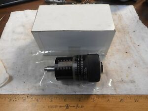 Nib Scherr tumico Large Metric Micrometer Head 0 25mm 0 002mm Carbide Face