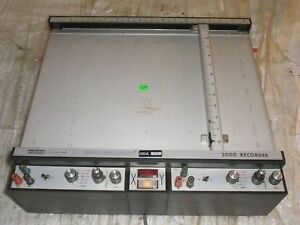 Vintage Houston Instrument Omnigraphic 2000 X y Chart Recorder Plotter