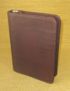 Classic 1 5 Rings Brown Unstructured Leather Franklin Covey Planner binder