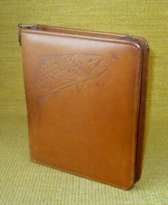 Classic 1 5 Rings Brown Leather Franklin Covey Zip Planner binder Trout