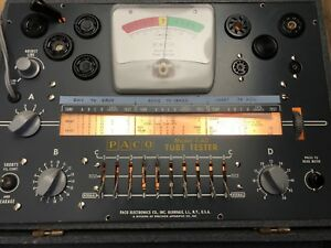 Paco T 60 Tube Tester Works Free Ship