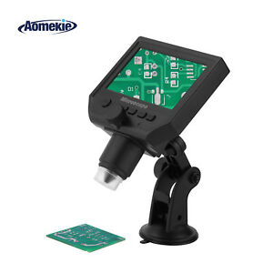 1 600x Portable Usb Digital Microscope Pcb Soldering Tool With 4 3 Lcd Screen
