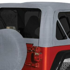 For Jeep Wrangler 1987 1995 Rampage 68211 Gray Denim Complete Soft Top