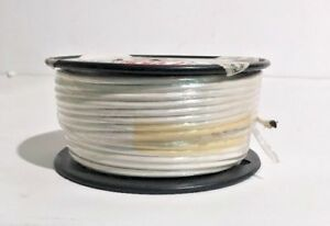 100 Feet M16878 4bmg9 Mil spec 10 awg Ptfe Silver Plated Wire White 600v