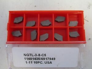Lot Of 10 Ngtl 3 8 c5 Carbide Cut Off Inserts New
