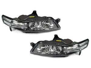 Depo Jdm Black Housing Clear Corner Projector Headlights For 2004 2005 Acura Tl