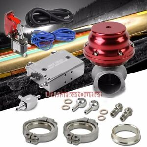 Silver Dual Stage Electronic Turbo Charger Boost Control red External Wastegate