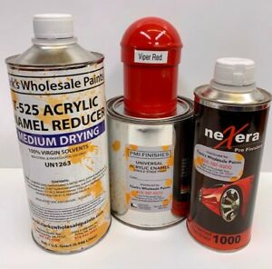 Viper Red Quart Kit Single Stage Acrylic Enamel Car Auto Paint Kit