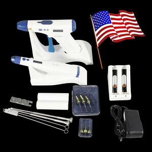 Us Cordless Dental Endodontic Obturation Gutta Percha Gun Heated Pen Tips Mj s