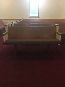 Used Good Condition Wood Church Pew 10 Ft 3 In Stock Priced Individually