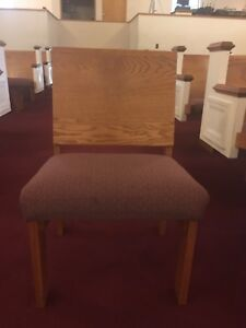 Wood Burgundy Padded Church Chair Lot Of 12 Can Purchase In Bulk Or Individually