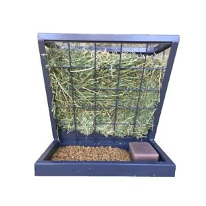 Livestock Feeder Hanging 3 1 Hay And Grain Food Supply Coated Steel Accessory