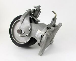 Aerol Heavy Duty Swivel Caster W Lock Brake 10 X 4 Wheel 8 5 X 8 5 Plate