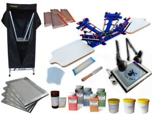 Silk Screen Printing Bundle Machine 4 Color Silk Screen Printing T shirt Press