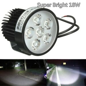 Super Bright Motorcycle 6 Led Head Light Driving Fog Spot Work Lamp Headlight Us