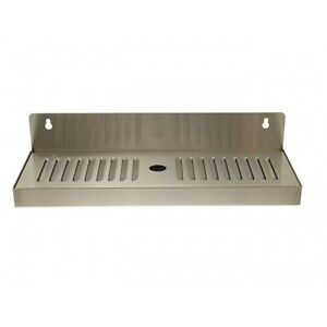 4 X 13 Stainless Steel Wall Mount Draft Beer Drip Tray Removable