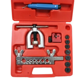 Sae Double Flaring Brake Line Tool Kit With Mini Pipe Cutter Car Truck