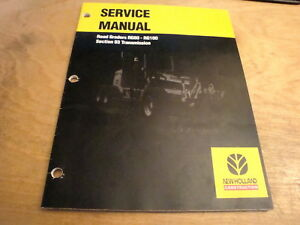 New Holland Rg80 Rg100 Road Grader Transmission Service Repair Shop Manual
