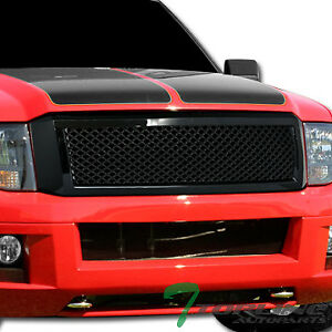 Glossy Black Mesh Front Hood Bumper Grill Grille Cover 2007 2014 Ford Expedition
