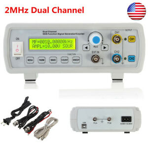 Us 2mhz Channel Dds Signal Function Generator Sine Square Wave Sweep