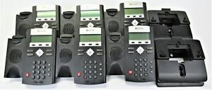 6x Polycom Soundpoint Ip 355 Voip Phone 2 Line Poe With Stand No Handset