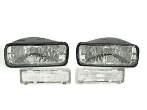 Depo Pair Of Clear Bumper Signal Side Marker Light For 1985 1992 Chevy Camaro