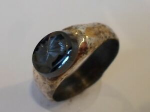 Detector Find 2nd Cent Roman Ae Seal Stone Intaglio Ring