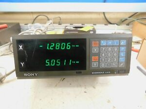 Sony Magnescale Lh10 2 axis Dro Digital Read Out With Scales