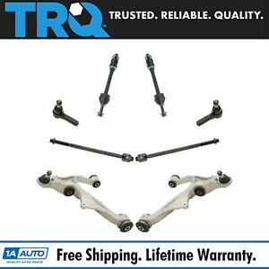 Trq 8 Piece Steering Suspension Kit Control Arms Tie Rods Sway Bar End Links New
