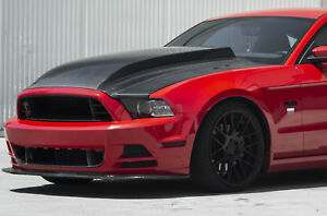 2013 2014 Ford Mustang Type cj Carbon Fiber 3 Cowl Hood Ac hd13fdmu cj