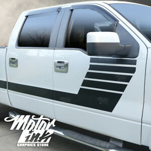 Ford F150 2009 2014 Side Hockey Bodyline Racing Rally Stripes Decals Graphics