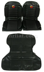 Fiat 600 Abarth Anatomical Black Seat Covers New