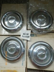 Vintage Set Of 4 Gm Chevrolet 6 5 Dog Dish Citation Hubcaps Genuine Hub Caps