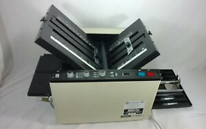Duplo D 590 Automatic Paper Folder Folding Machine tested Works Video