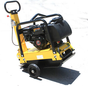 Heavy Duty Large Plate Walk Behind Vibratory Dirt Plate Compactor Rammer W tank