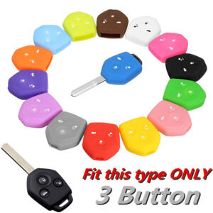3 Buttons Silicone Remote Key Shell Case Cover For Subaru Impreza Legacy Outback