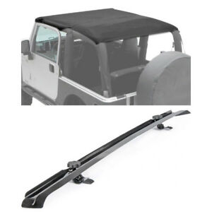 2007 2009 Jeep Wrangler Jk 2 Doors Extended Brief Top With Windshield Channel
