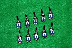 Ms 248 Midget Toggle Switch On on Dpdt Miyama Electronics 10 Pack Japan New
