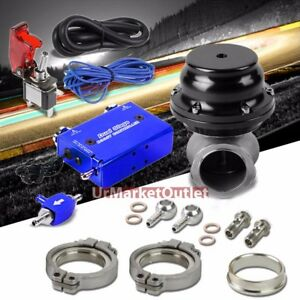 Blue Electronic Turbo Charger Manual Boost Control black 44mm External Wastegate