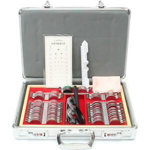 104pcs Pro Optometry Optical Lens Box Case Kit W Test Trial Eyeglass Frame