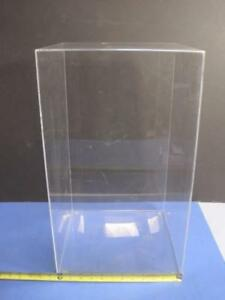 Clear Acrylic Display Multi Use Storage Showcase Case Large 21 X 12 X 12