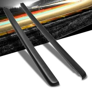 Pair Black Truck Bed Cap Molding Rail Cover For 99 07 Silverado Sierra 6 5ft Bed