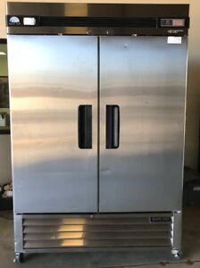 Blue Air Basf2 2 Two Solid Door Freezer Reach In Commercial Stainless Steel Used