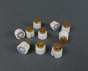 10 Augat Teflon Transistor Sockets Gold To 5 Package Solder Cup 10 Pos