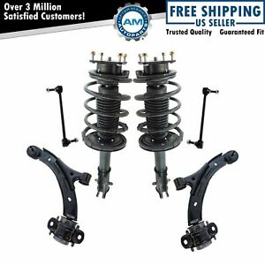 6 Piece Suspension Kit Complete Struts Control Arms Sway Bar End Links New