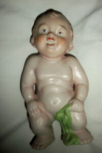 Cute German Piano Baby 6 Tall Chub Toddler With Towel Excellent Condt