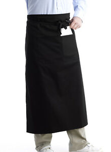 Professional Waiter Waitress Server Pinny Split Pocket Restaurant Bistro Apron