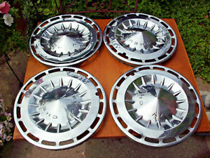 6 Lot Vintage 1962 1963 1964 Chevy Ii 2 Chrome Hubcaps 13 Chevrolet Hub Caps