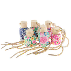 6pcs 12ml Car Home Hanging Air Freshener Perfume Soft Clay Bottles Empty
